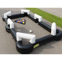 China Tdoor Sport Game Giant Snooker Football Inflatable Sports Arena Human Billiards wholesale
