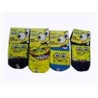 China Novelty frilly soft comfortable wool children Spongebob socks for spring winter wholesale
