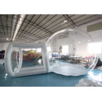 China Clear PVC 4m Single Tunnel Inflatable Bubble Tent With Blower wholesale