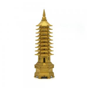 China Small Scale Tower ABS SLA 3D Printing Service With Gold Painting wholesale