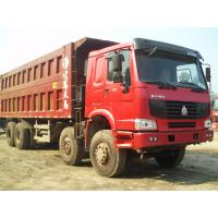 China Howo 8 by 4 heavy duty dump truck 8 Meters Front Tipper 45 tons loading for construction / mining wholesale