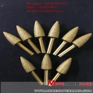 China Vacuum brazing diamond CNC automatic flat carving, circular carving, carving knife  Alisa@moresuperhard.com wholesale
