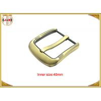 China Fashion Gold Pin Style Metal Belt Buckle Environmental Electroplate wholesale