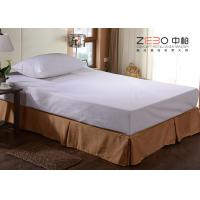 China Polyester Fabric Elastic Bed Skirts Dust Ruffles For Home / Hotel wholesale