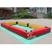 China 10x5 Mts Giant Inflatable Human Billiards Bounce House With Snooker Balls For Snooker Football Entertainment wholesale