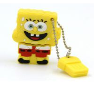 China 4GB 8GB 16GB 32G novelty usb flash drive Cartoon Spongebob usb stick flash memory on sale