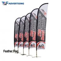 China 16ft Flag Advertising Banners Large Swooper Anti Corrosion Vertical High Precison on sale