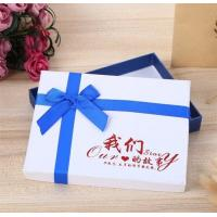 China Luxury Wholesale Custom Packaging Paper Gift Box with Ribbon,wedding paper jewellery white gift box with ribbon closure wholesale