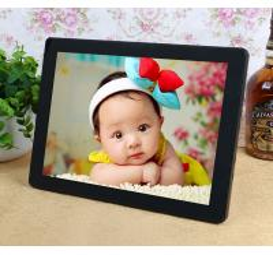 China Decorative Desktop 12 Inch Resistance Touch Screen Digital Photo Frames 800*600 on sale