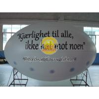 China White Oval ( ellipse shape ) Filled Helium Gas Balloons for Parade, Inflate Ground Balloon wholesale