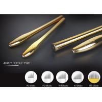 China 0.2mm Needle Manual Tattoo Pen , EO Gas Sterilized Golden Microblading Pen wholesale