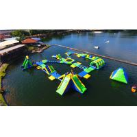 China Commercial Inflatable Water Park Hot Welding Workmanship For 80 Kids on sale
