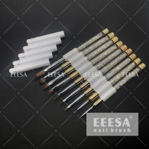 China Crystal Handle Nail Brush Set Acrylic Nails Gel Nails Painting Brush wholesale