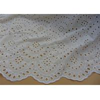 China Chemical Vintage Eyelet 100% Cotton Lace Fabric For Lady Shirt And Suit Anti Static wholesale