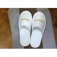 Quality Cotton Velvet Disposable Hotel Slippers with Warm and Non-slip Bottom Surface for sale