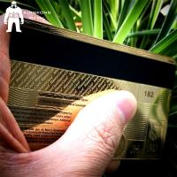 China Laser Cut Anodized Gold Business Cards With Mirror On Back 0.3mm 0.5mm Thickness wholesale