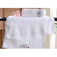 China 16S Yarn 5 Star Hotel Collection White Towels / Hotel Living Towels wholesale