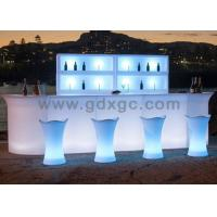 China Brand new nightclub Bar counter LED light up Glowing blue color coffee table for outdoor use wholesale