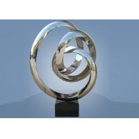 Large Size Stainless Steel Sculpture Circle Around For Hotel / Public Decoration