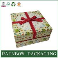 Quality Factory Custom Cardboard Paper Box Packaging for Gift Chocolate with Ribbon for sale