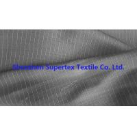 China DTY Twill Jacquard Polyester Fabric Two Tone Pin Stripes For Workwear Uniforms wholesale