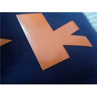 Buy cheap Custom Shiny Orange TPU Iron On Clothing Patches , Heat Transfer Shoe Label from wholesalers