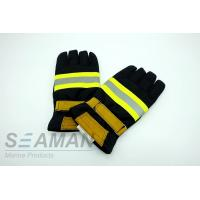 China Fire Retardant Aramid Fiber Leather Fireman Protective Gloves Fire Fighting Equipments wholesale