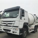 China Sinotruck Howo 12CBM Self Loading Concrete Mixer Truck 371HP Euro 2 White wholesale