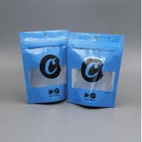 Quality Custom Herbal Incense Packaging 3.5g Cookies Bag Mylar Child Proof With Clear for sale