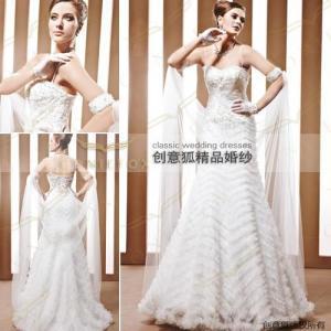 China graceful trumpet wedding ceremony dresses 90028 wholesale