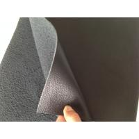 China Nappa Design Black Bonded Leather Fabric 1.0mm - 1.2mm Thickness wholesale