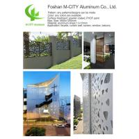 China 1000x2000mm Aluminum Sheet Fence ,  Decorative Aluminum Screen  3mm Thickness wholesale