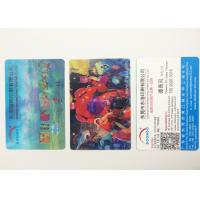 Quality Flip Effect PP / PET 3D Lenticular Business Cards With Two Sides Printing for sale