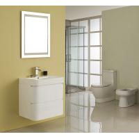 China Single Ceramic Basin Rectangle Sink Vanity Hanged White Flush Color With Mirror wholesale