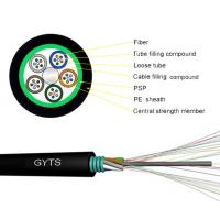 Buy cheap Conduit 7.0 8.0 Fiber Optic Armoured Cable For Outdoor Use G652D GYTS 24 48B1.3 from wholesalers