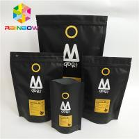 China Stand Up Plastic Pouches Packaging Printed One Way Valve Ziplock Coffee Bag wholesale
