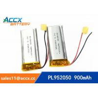 China 952050pl 3.7v lithium polymer battery with 900mAh li-ion battery for bluetooth headset wholesale