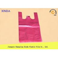Quality PE T-shirt plastic shopping car garbage bags blue red yellow purple green black for sale
