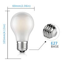 Quality A19 / A60 6w Dimmable LED Light Bulbs Equivalent 60w Decorative Milky Light Bulb for sale