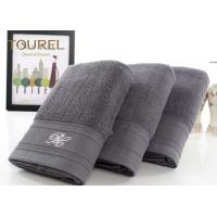 China Luxury 5 Star Hotel Bath Towels100% Cotton Light Black With Bamboo Fibre wholesale