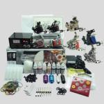 China Complete Tattoo Kit 8 Tattoo Machine Gun Power Supply Inks Pigment Grip Tips Needles equipment set wholesale