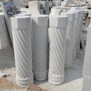 China White Marble Columns Small Roman Column House Building Pillars Designs Indoor Decorative wholesale