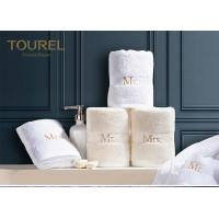 China Luxury Plain Dyed Hotel Towel Set In Pakistan With Embroidery Logo wholesale