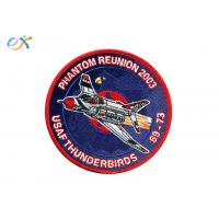 China 100% Rayon Thread Embroidered Military Patches With Merrowed Edge  Round Shape on sale