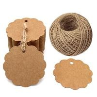 Kraft Paper Cardboard Gift Tags Natural Color Appearance With High Convenience