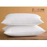 China White Cotton Hotel Comfort Pillows Super Soft Microfiber Filling wholesale