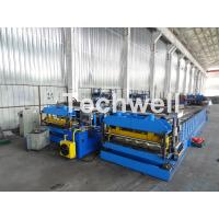 China Automatic PLC Controlled Tile Roll Forming Machine For Steel Metal Glazed Tile wholesale