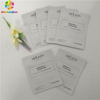 China Aluminum Foil Plastic Cosmetic Packaging Bag Facial Packing 3 Sides Seal Mask Packet wholesale
