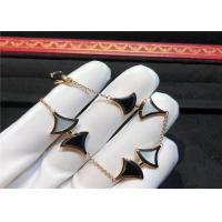China Elegant  Divas Dream 18K Gold Diamond Bracelet With Agate And White Shell wholesale