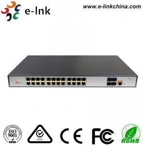 China L3 Managed PoE Switch: 24-Port 10 / 100 / 1000Base-T PoE+ with 4 x10G SFP+ ports wholesale